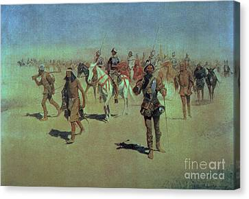 Francisco Vasquez De Coronado Making His Way Across New Mexico Canvas Print by Frederic Remington