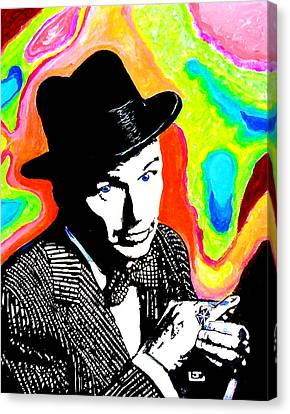 Frank Sinatra Canvas Print by John Leclerc