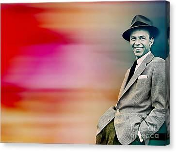 Frank Sinatra Canvas Print by Marvin Blaine