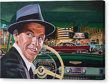 Frank Sinatra - The Capitol Years Canvas Print by Jo King