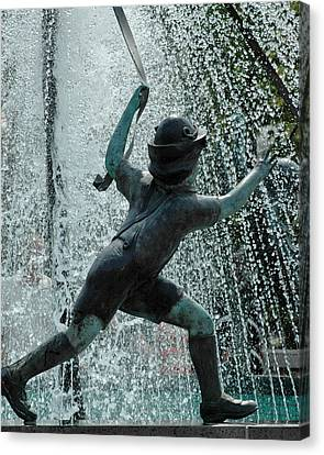 Frankenmuth Fountain Boy Canvas Print by LeeAnn McLaneGoetz McLaneGoetzStudioLLCcom