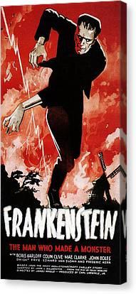 Frankenstein, Boris Karloff, 1931 Canvas Print by Everett