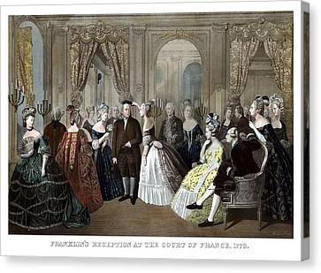 Franklin's Reception At The Court Of France Canvas Print by War Is Hell Store