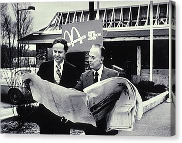 Fred Turner And Ray Kroc The Executive Canvas Print by Everett
