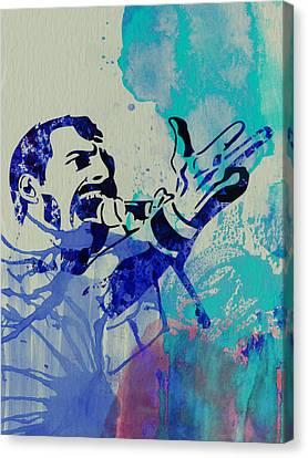 Freddie Mercury Queen Canvas Print by Naxart Studio
