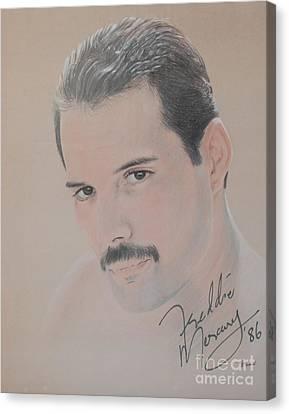 Freddie Mercury Signed  Canvas Print by John Sterling