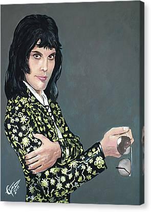 Freddie Mercury Canvas Print by Tom Carlton