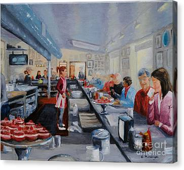Fred's Breakfast Of New Hope Canvas Print by Cindy Roesinger