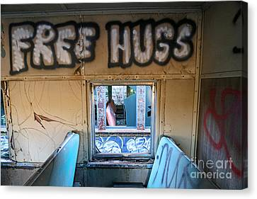Free Hugs Canvas Print by Steve Gass