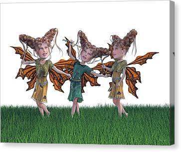 Free Spirit Friends Canvas Print by Betsy Knapp