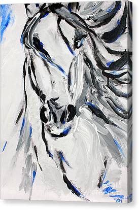 Free Spirit Horse - Abstract Horse Art By Valentina Miletic Canvas Print by Valentina Miletic