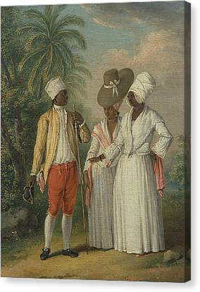 Free West Indian Dominicans Canvas Print by Agostino Brunias