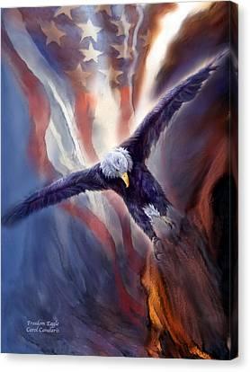 Freedom Eagle Canvas Print by Carol Cavalaris
