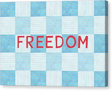Freedom Patchwork Canvas Print by Linda Woods