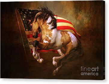 Freedom Run Canvas Print by Shanina Conway