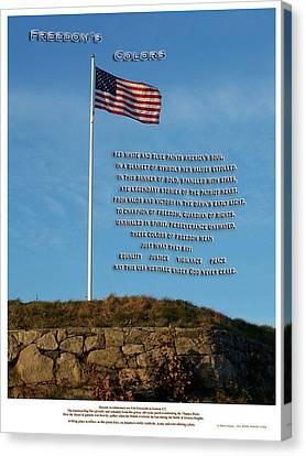 Freedom's Colors Canvas Print by Patrick J Maloney
