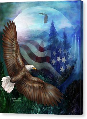 Freedom's Flight Canvas Print by Carol Cavalaris