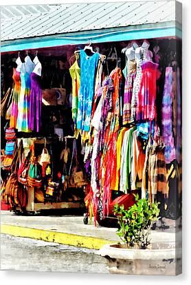 Freeport, Bahamas - Shopping At Port Lucaya Marketplace Canvas Print by Susan Savad