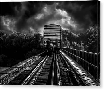 Freight Train Blues Canvas Print by Bob Orsillo