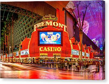 Fremont Casino Canvas Print by Az Jackson