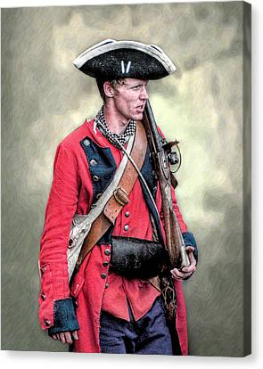 French And Indian War British Royal American Soldier Canvas Print by Randy Steele
