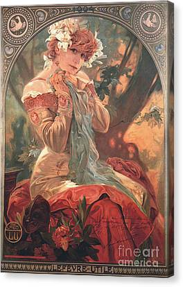 French Biscuit Ad 1904 Canvas Print by Padre Art