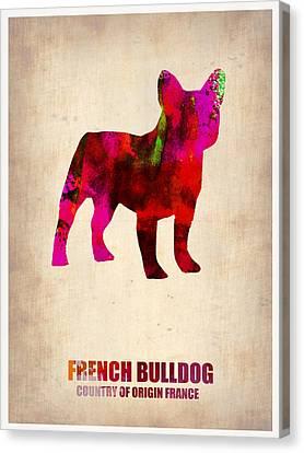 French Bulldog Poster Canvas Print by Naxart Studio