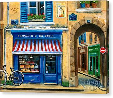 French Cheese Shop Canvas Print by Marilyn Dunlap