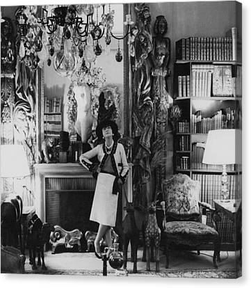 French Fashion Designer, Coco Chanel Canvas Print by Conde Nast