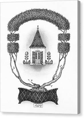 French Garden House Canvas Print by Adam Zebediah Joseph