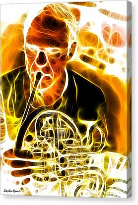 French Horn Canvas Print by Stephen Younts
