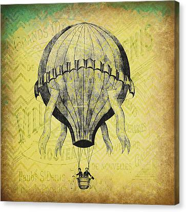 French Hot Air Balloon Canvas Print by Brandi Fitzgerald