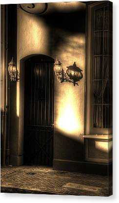 French Quarter Door Canvas Print by Greg and Chrystal Mimbs