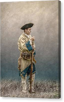 French Soldier French And Indian War Canvas Print by Randy Steele