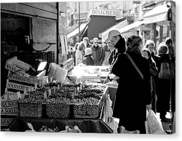 French Street Market Canvas Print by Sebastian Musial