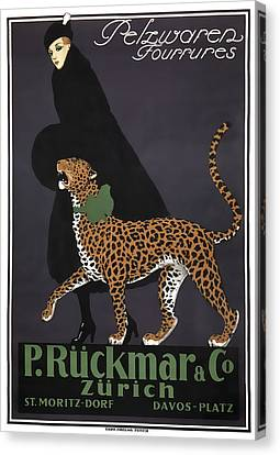 French Swiss Vintage Ad C. 1920 Canvas Print by Daniel Hagerman