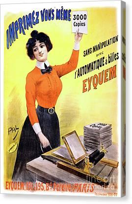 French Vintage Advertising Poster Restored Canvas Print by Carsten Reisinger