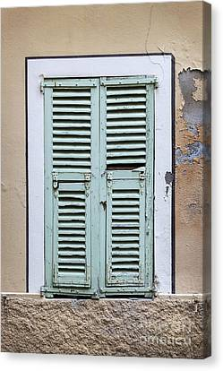 French Window With Shutters Canvas Print by Elena Elisseeva
