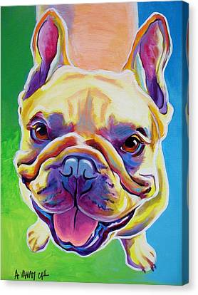 Frenchie - Ernest Canvas Print by Alicia VanNoy Call