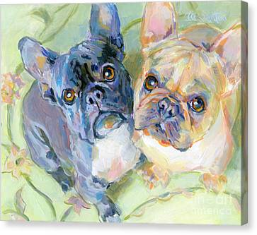 Frenchies Canvas Print by Kimberly Santini