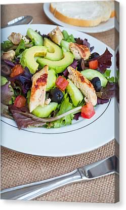 Fresh Chicken Salad With Avocado #2 Canvas Print by Jon Manjeot
