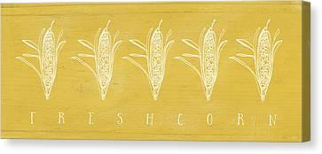 Fresh Corn- Art By Linda Woods Canvas Print by Linda Woods