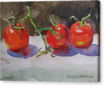 Fresh Picked Canvas Print by Sharon Lehman