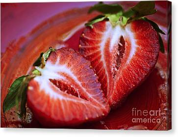 Fresh Strawberries Canvas Print by Ray Laskowitz - Printscapes