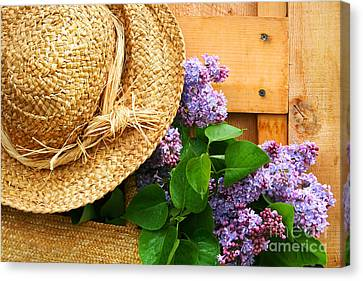 Freshly Picked Lilacs Canvas Print by Sandra Cunningham