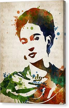 Frida Kahlo Canvas Print by Mihaela Pater