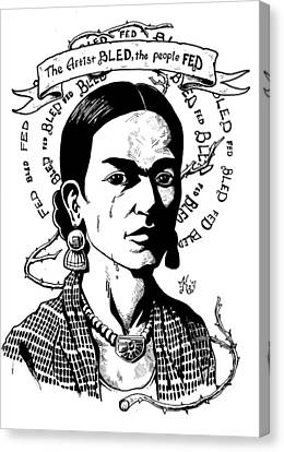 Frida Canvas Print by Marcus Anderson