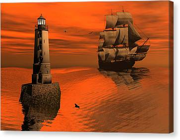 Friendly Beacon Canvas Print by Claude McCoy