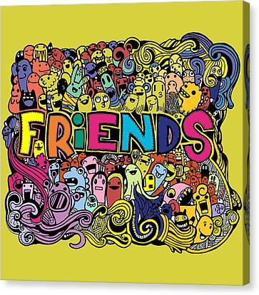 Friends Canvas Print by Brenda Knight