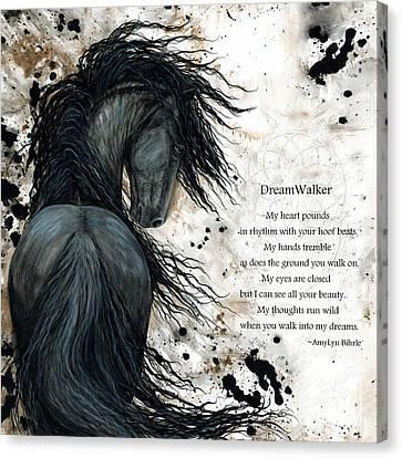 Friesian Dreamwalker Horse Canvas Print by AmyLyn Bihrle